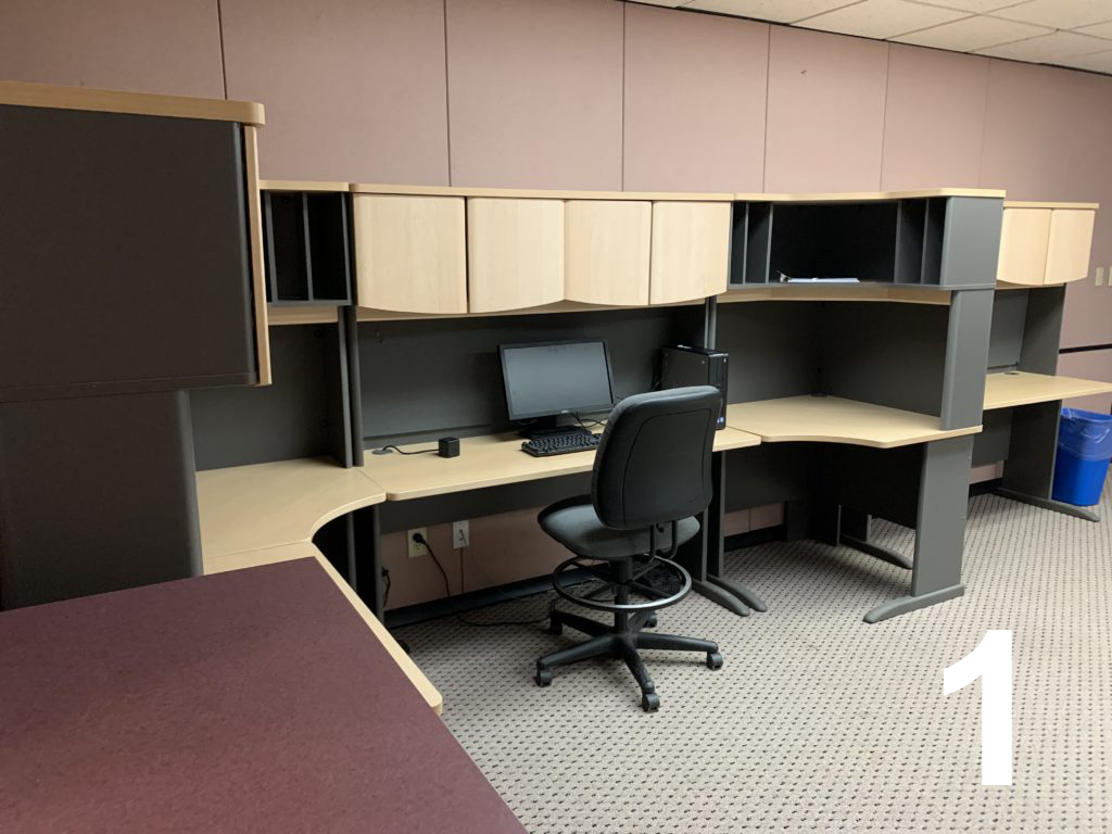 Office area with chair and computer